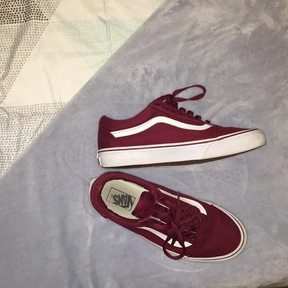 Vans Shoes | Mens Maroon Low Top Vans